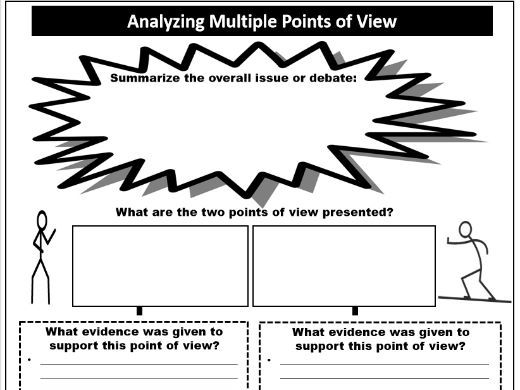 Analyzing Multiple Points of View Graphic Organizer Analyzing Multiple Points of View Graphic Organi