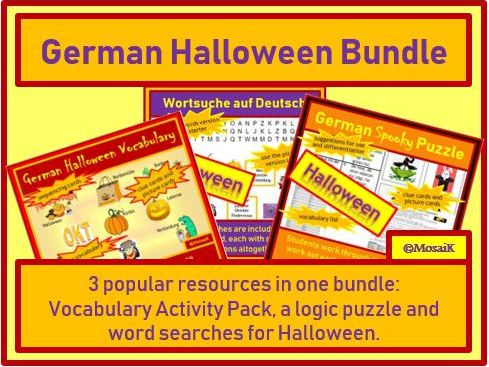 German - Halloween BUNDLE of activities