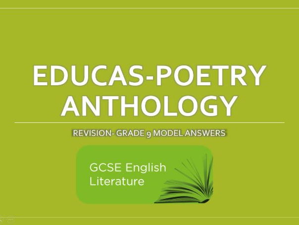 GCSE- Eduqas - Poetry Anthology - Model Answers - Grade 9 - Student Exemplar