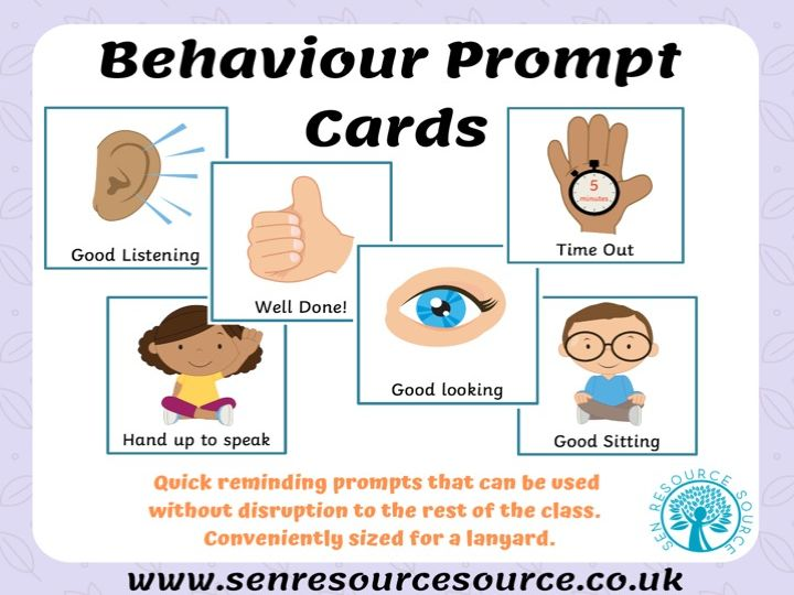 Behaviour Prompt Cards