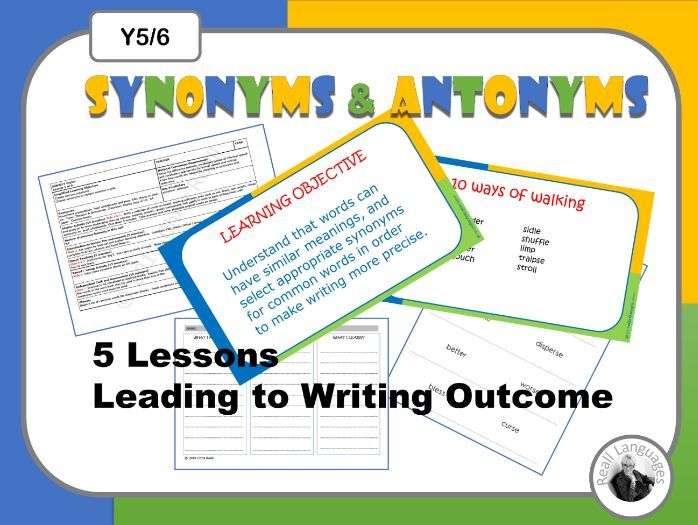 Antonyms and  Synonyms for Writing