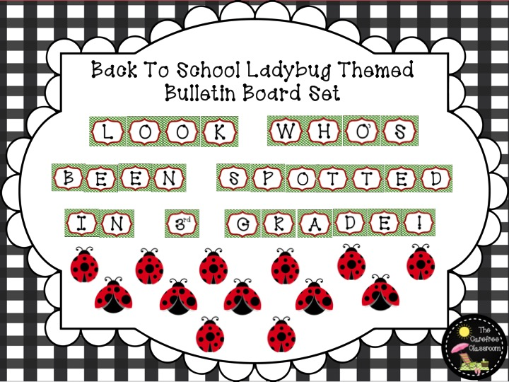Bulletin Board Set: Ladybug Back To School Set