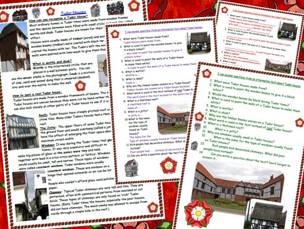 Tudor House Reading Comprehension Information Text