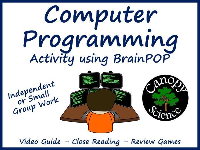 Computer Programming Activity using BrainPOP