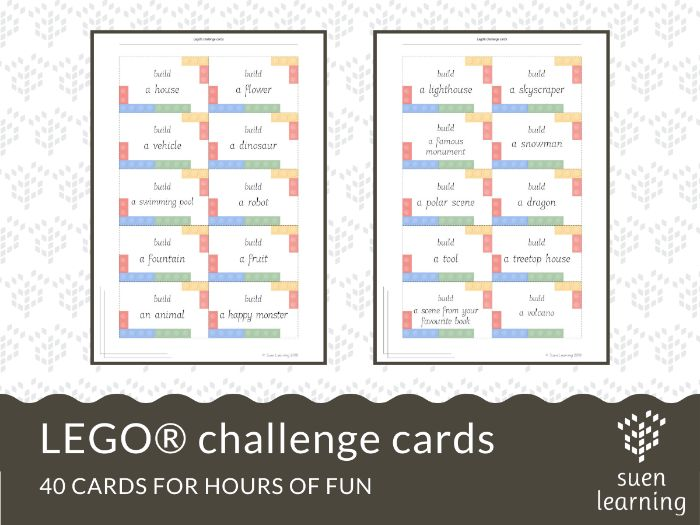 STEM activity: LEGO® challenge cards