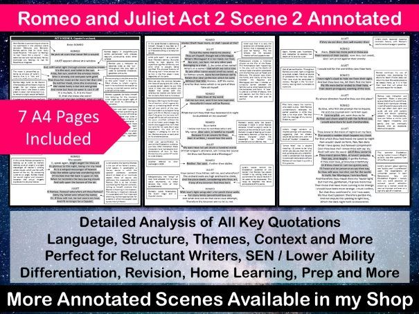 Romeo and Juliet Act 2 Scene 2 Annotated