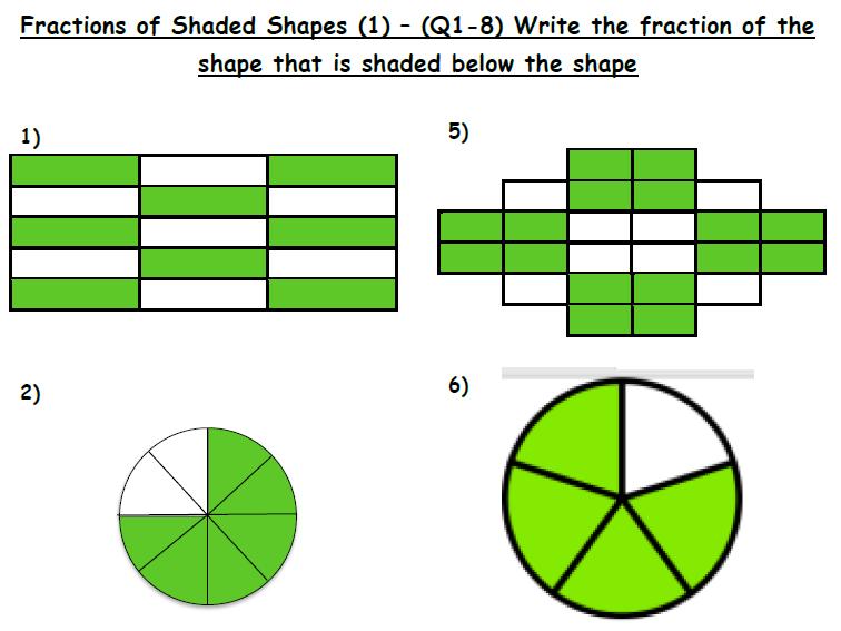 Shading Fraction of Shapes