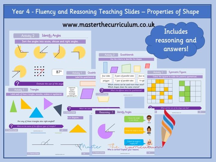 Year 4- Geometry- Properties of shape- Fluency Teaching slides- White Rose Style