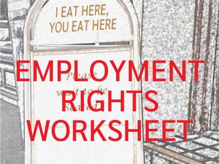 Employment Rights Worksheet KS3