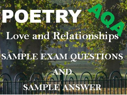 Love  Relationships Poetry Sample Exam Questions AND Answer:  'Porphyria's Lover' + 'Neutral Tones'