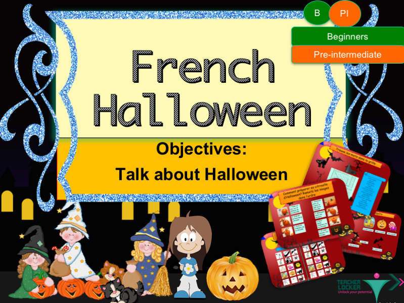 French Halloween full lesson for beginners/pre-intermediate - La Toussaint