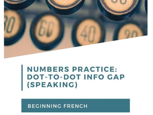 Dot-to-Dot: French numbers and speaking for beginning learners