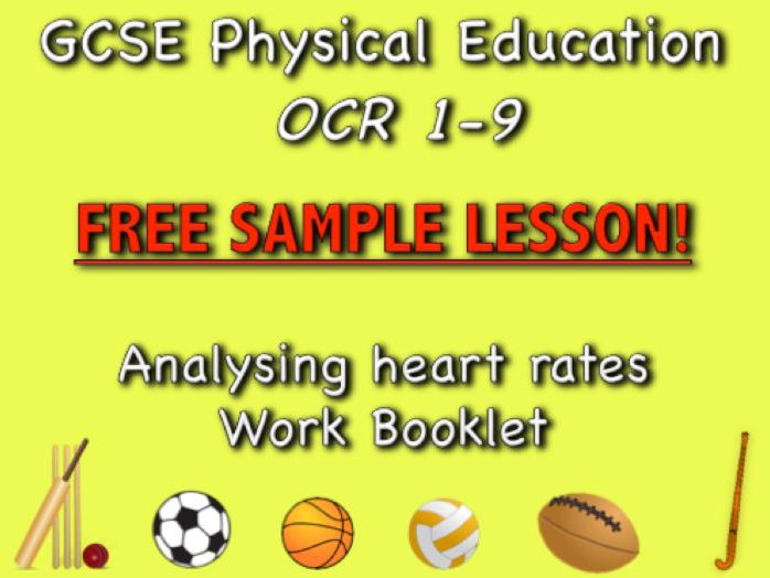GCSE PE OCR 1-9 Free Sample Work Booklet - Analysing heart rates