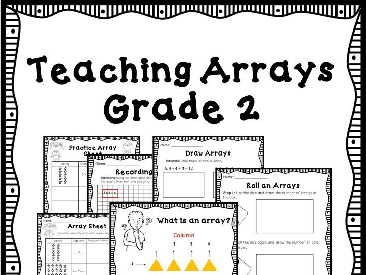 2nd Grade Math - Teaching Array - CCSS Aligned