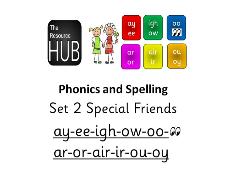 Phonics Set 2 Special Friends Read Write Inc. AY EE IGH OW OO AR OR AIR IR OU OY