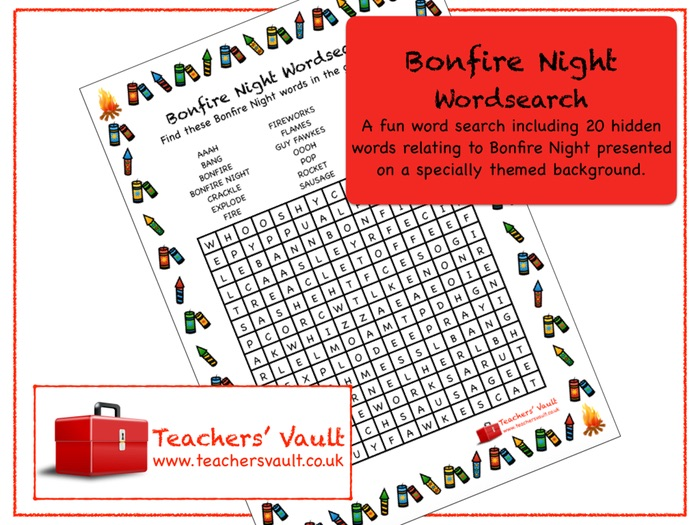 Bonfire Night Wordsearch