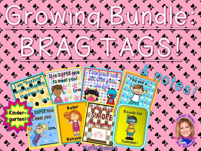 GROWING BUNDLE: Brag Tags! (Kindergarten)