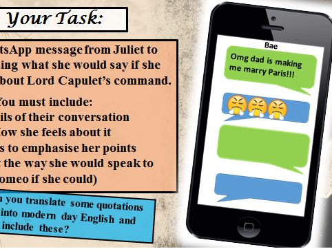 AQA Romeo and Juliet Full Scheme of Work