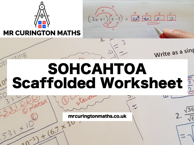 SOHCAHTOA Scaffolded Worksheet