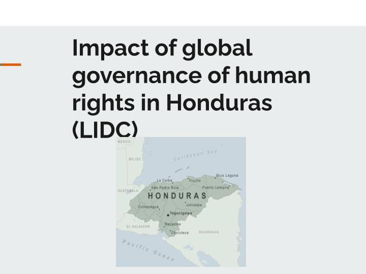 Case Study: Global Governance in Honduras - Human Rights OCR Geography A-level
