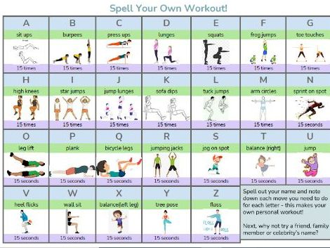 Spell Your Own Workout