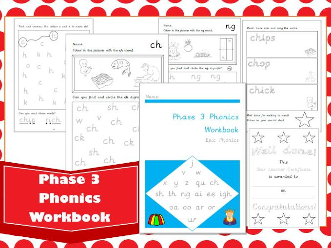 Phase 3 Phonics Workbook Letters and Sounds