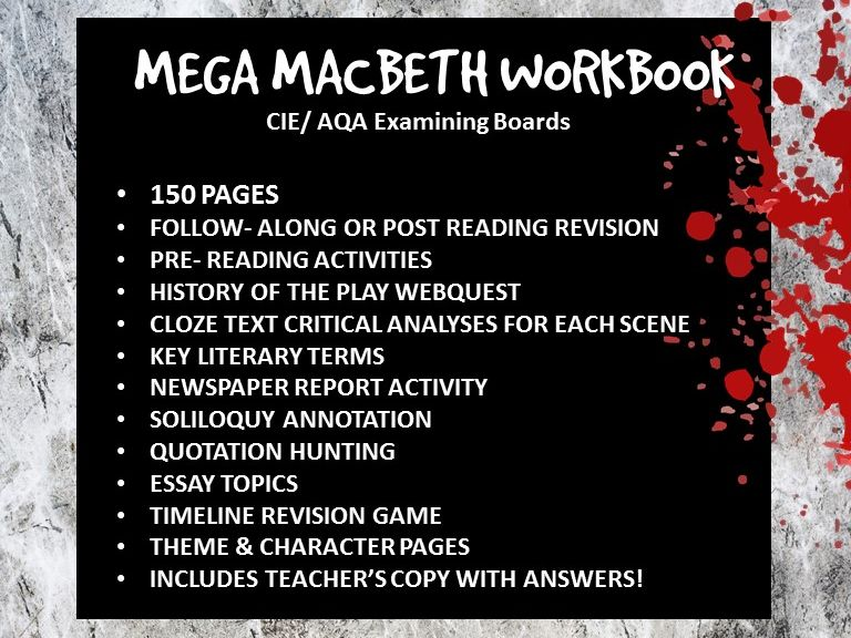 Mega Macbeth Workbook