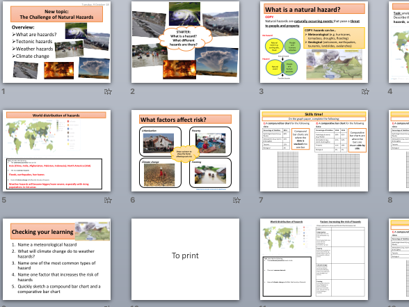 Introduction to natural hazards (AQA The Challenge of Natural Hazards)