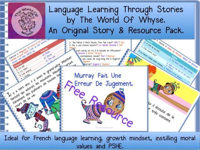 French Story – totally original for KS2 & KS3 pupils – 'Murray Fait Une Erreur De Jugement'.