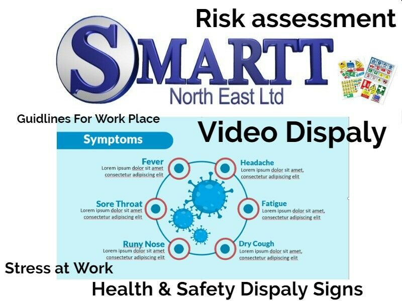 COVID-19  Guidance sheets, Risk Assessment, Video Display, Health & Safety Images