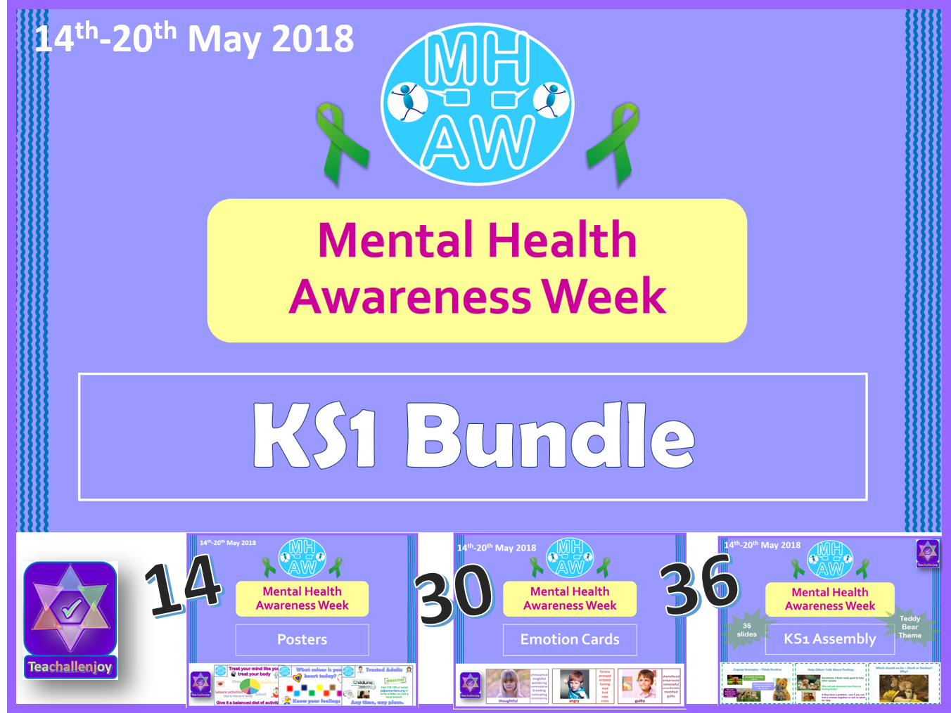Mental Health Awareness Week 2018 KS1 BUNDLE