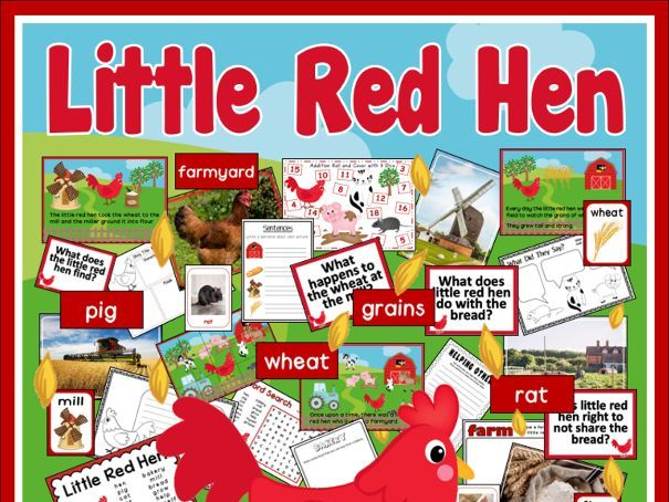 LITTLE RED HEN STORY TEACHING AND DISPLAY RESOURCES