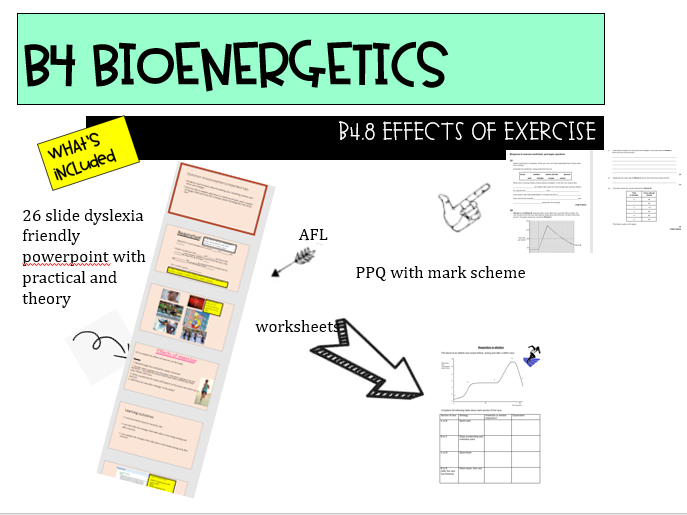 B4.8 Effects of exercise AQA NEW GCSE 9-1 combined science trilogy