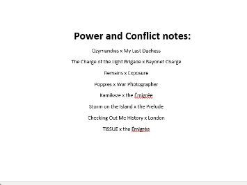 AQA poetry Complete notes