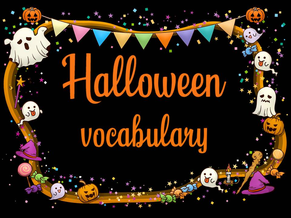 French Halloween vocabulary sheet