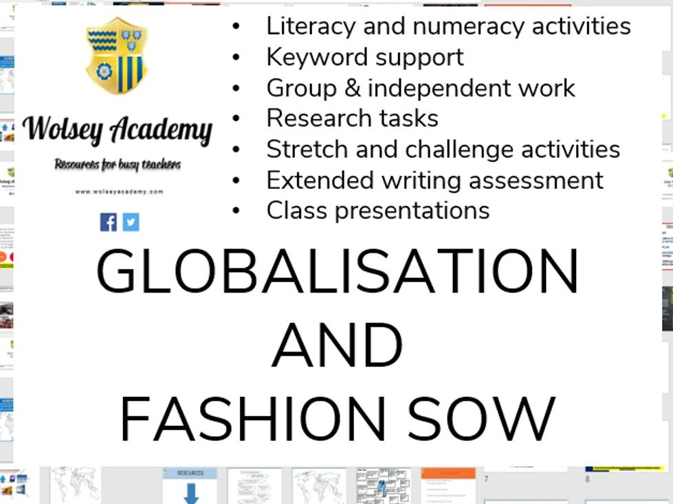 Globalisation and Fashion SOW