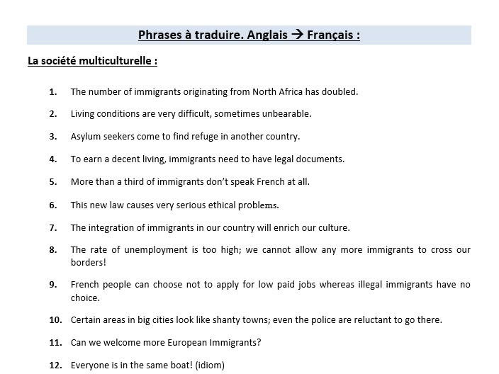 L'immigration et les marginalisés