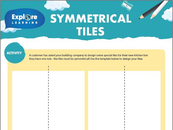 Free Symmetrical tiles activity sheet