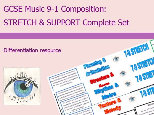 GCSE Music 9-1 Composition: Differentiation Complete Set