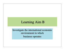 BTEC Business Level 3 Unit 5 International Business Learning Aim B Teaching Resources