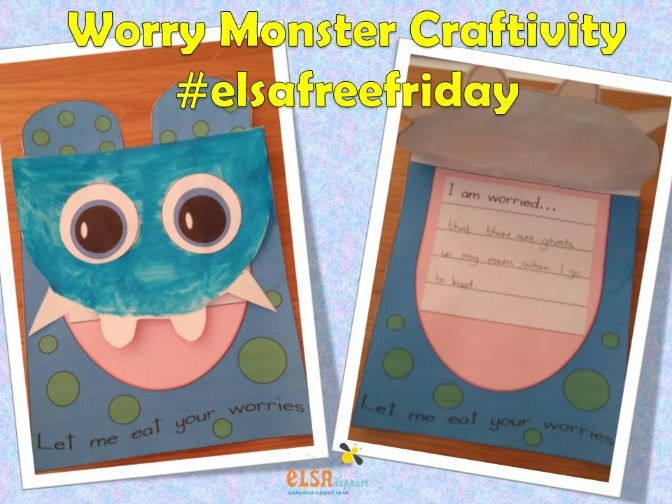 Worry Monster Craftivity - social and emotional resources - anxiety, worries, emotional regulation