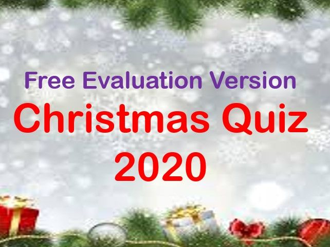 Christmas 2020 Quiz - Deal or No Deal Free Evaluation version