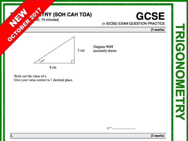 GCSE 9-1 Exam Question Practice (Trigonometry)