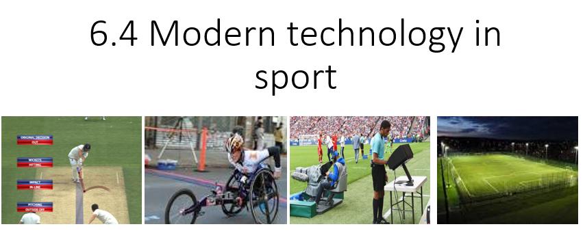 OCR A level PE-Modern technology