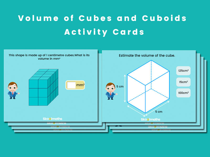 Volume of Cubes and Cuboids Activity Cards