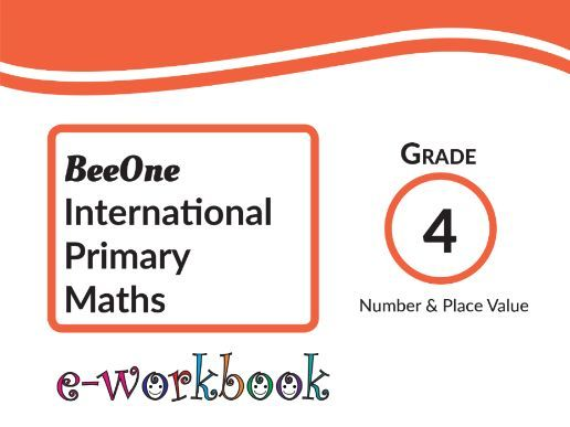 Grade 4 Number & Place Value, 50 worksheets from BeeOne Books