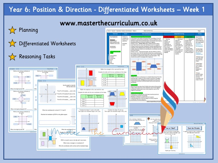Year 6- Position and Direction – Week 1- Differentiated Worksheets White Rose