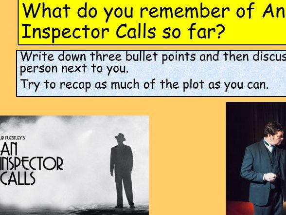 An Inspector Calls Act 2 Revision