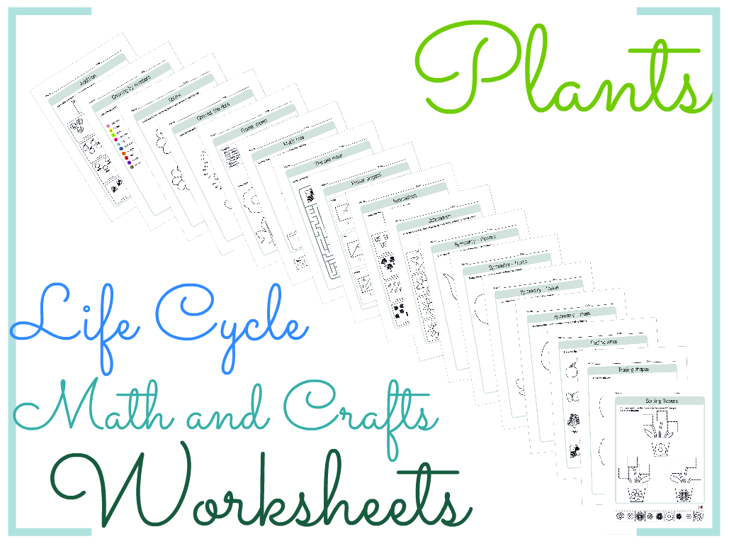 Worksheets Product Life Cycle Worksheet plant life cycle math and crafts worksheets by biogeoscience cover image