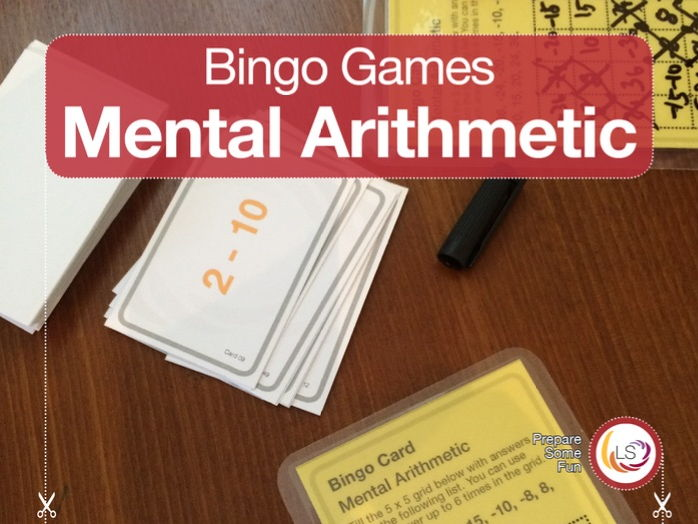 Arithmetic with Negative Numbers Bingo